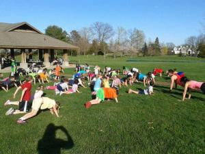 My friend Shereen Bernaz ( kids yoga teacher) captured this pic of 75+ kids in down dog. They all seemed to enjoy it!!!