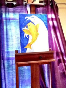 The KOI painting by the original artist, Laura Gerry. Our paintings were supposed to look like this!